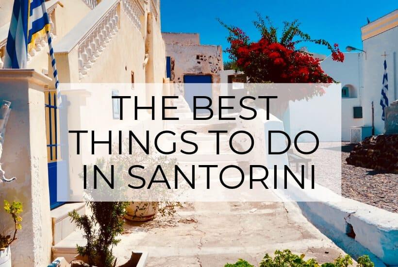 best things in santorini