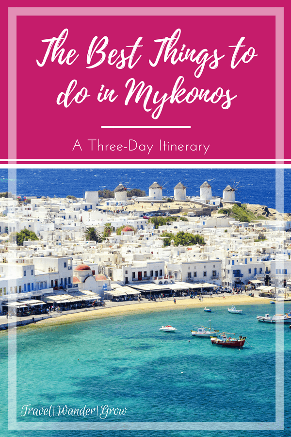 Mykonos is a beautiful island in the Aegean Sea, and has become one of the most popular vacation spots in the Greek Islands. I had a wonderful time on my visit to Mykonos, and would like to share some of my experiences with you. In this post, I'll talk through the best things to do in Mykonos and provide this information in a three-day itinerary. #mykonos #bestthingstodoin #internationaltravel #travelitinerary