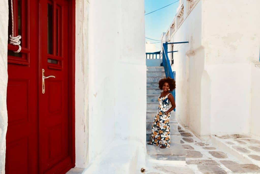 Mykonos Town w/ Woman