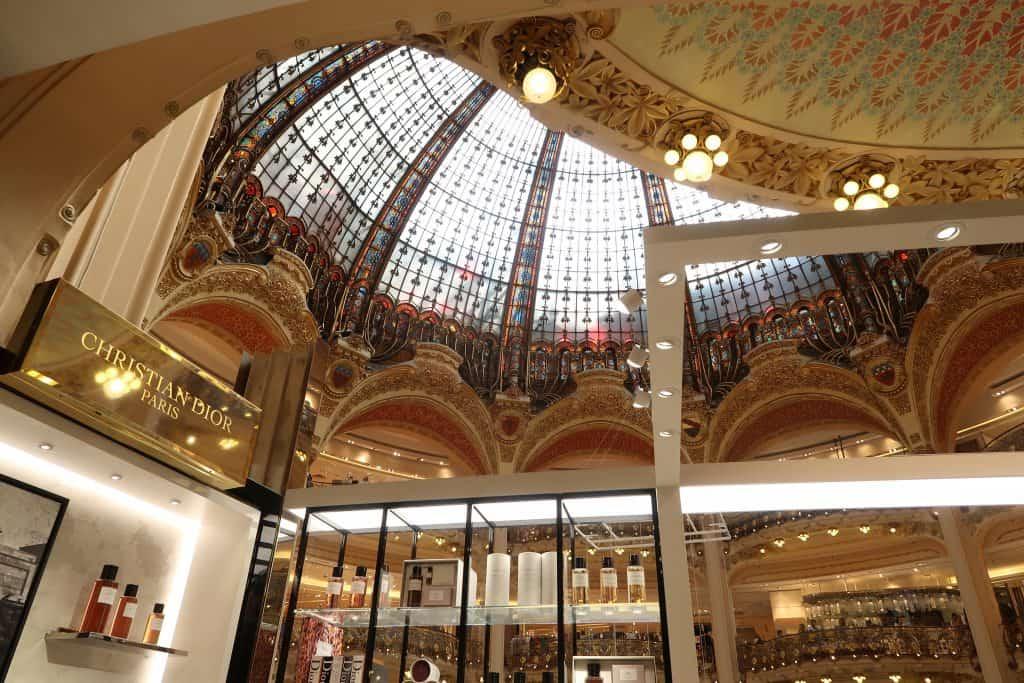 Parisian department store interior