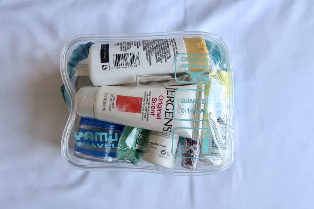 liquids in pouch