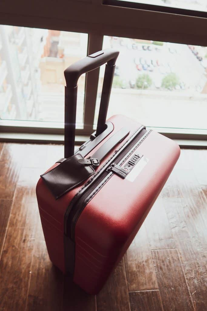 "The ""Bigger Carry-On"" in Brick Red"