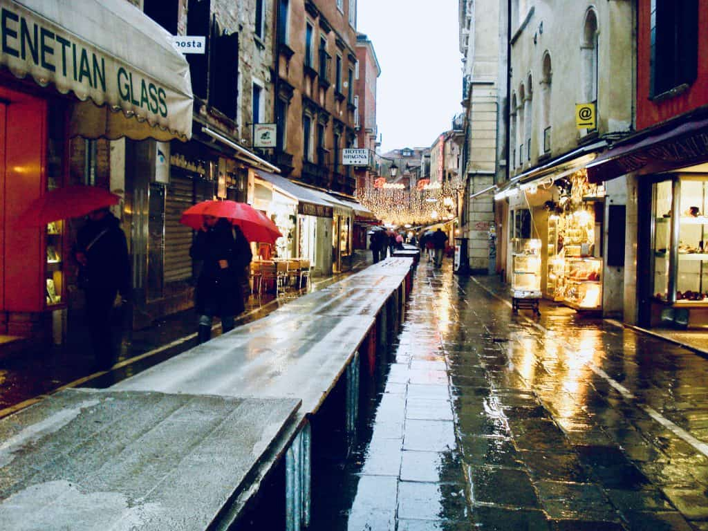 Venice when raining