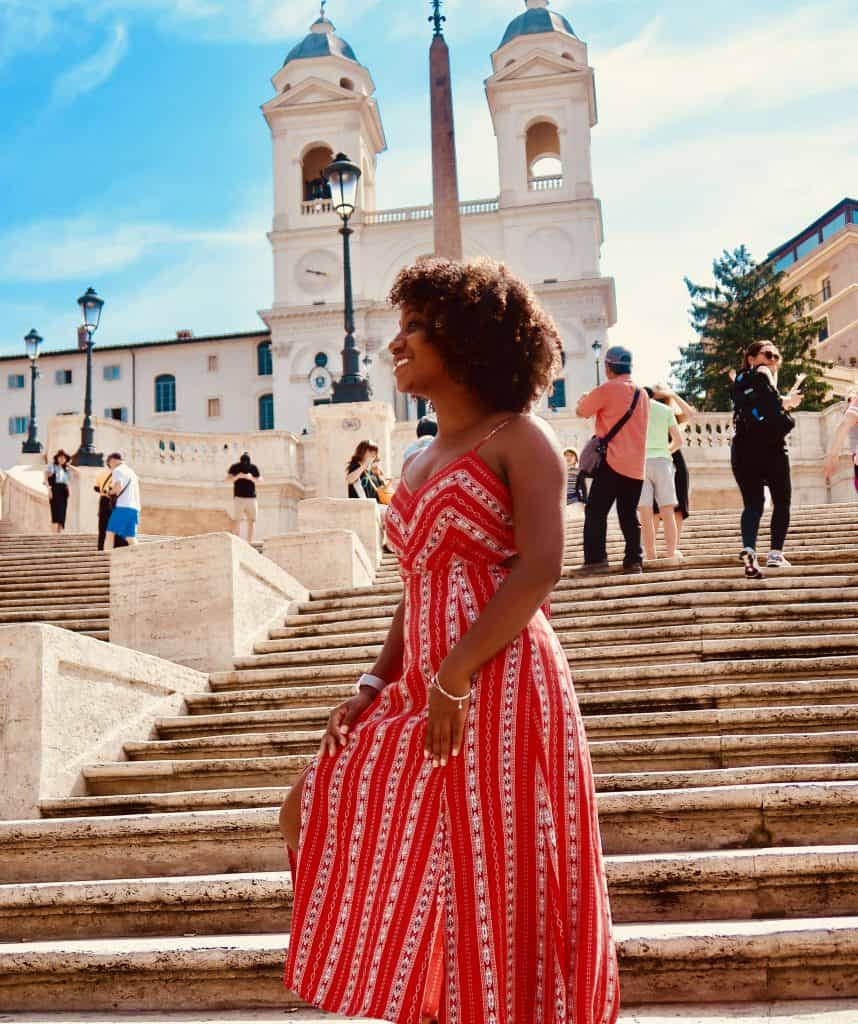 4 Day Rome Itinerary Woman on Spanish Steps