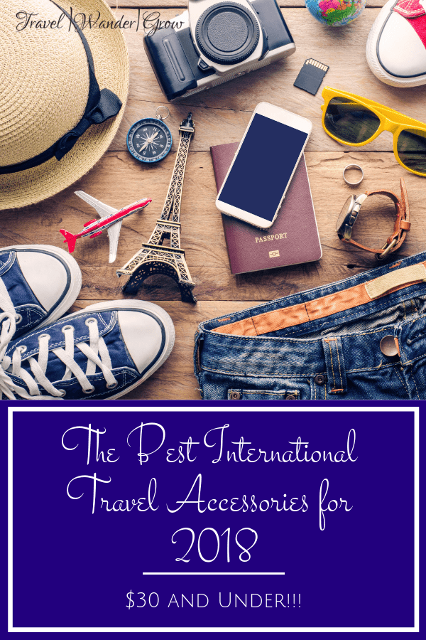 Having the right travel accessories in tow can make all the difference in having a smooth experience while traveling outside of the country. This post provides my list of the 10 best international travel accessories for 2018. The best part about this list is that you can find every item on Amazon, and they are all below $30! #travelaccessories #internationaltravel #traveltips