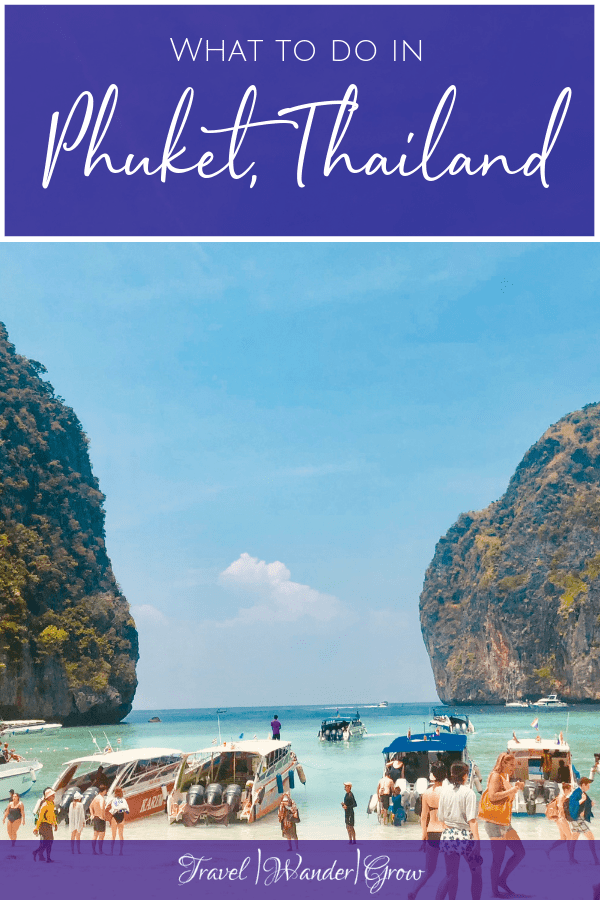 Phuket, the largest Thai island, is one of the most well-known and most-visited in Thailand. It is most famous for its crystal-clear waters and other-worldly rock structures. And let me tell you, the views you experience there don't disappoint! So chances are, if you're going to Thailand, you are probably at least thinking about heading to Phuket. In this post I'll cover a one-day Phuket, Thailand itinerary. #phuket #thailand #internationaltravel