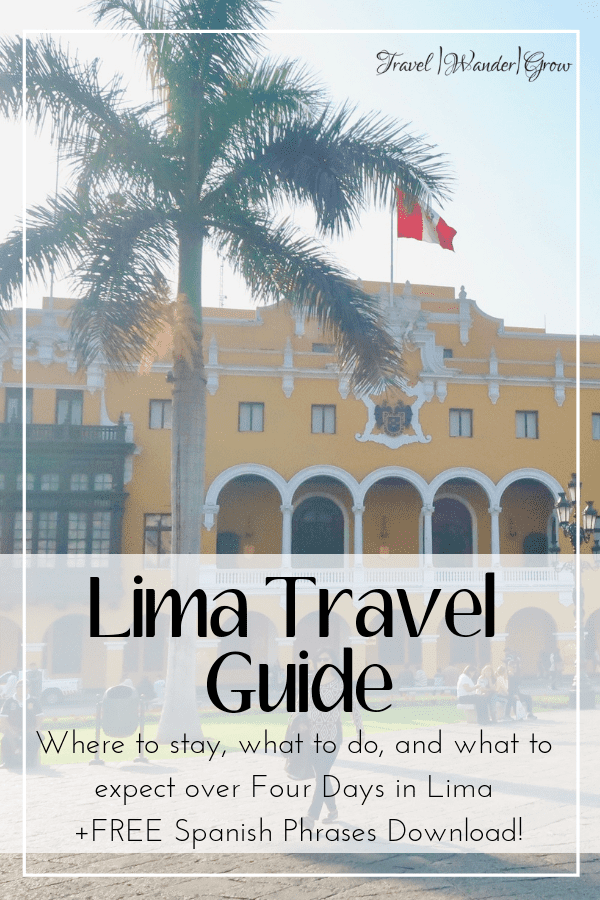 Lima is a vast city that is great for the exploring traveler. This post provides the 10 best things to do in Lima, all within a 4-day itinerary. Get tips on how to see neighborhoods like Miraflores and Barranco. Learn about the amazing food in the city and how to travel between each of the city's districts. Get tips on which hotels to stay in as well. #limatravelguide #limaitinerary