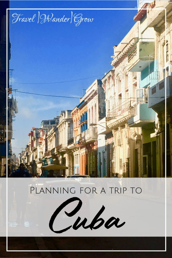planning for a trip to cuba