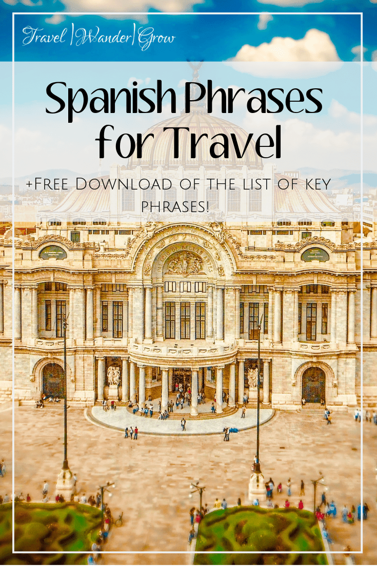 As there are many countries around the world where Spanish is the primary language, it is pretty likely that you'll hit one of these countries on your travels. This post will cover the basics of Spanish phrases for travel, which you can use as your pocket guide while traveling! #spanishskills #spanishfortravel #internationaltravel #travelskills
