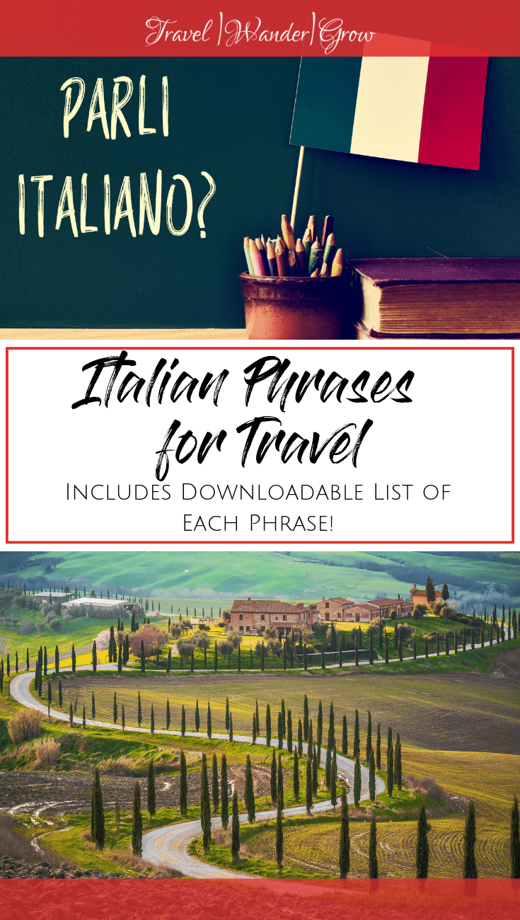 This post provides an overview of the Italian language and key Italian sayings for travel that anyone traveling to Italy should know. I'll also give you tips on the best ways you can practice these at home. #italian #italianfortravel