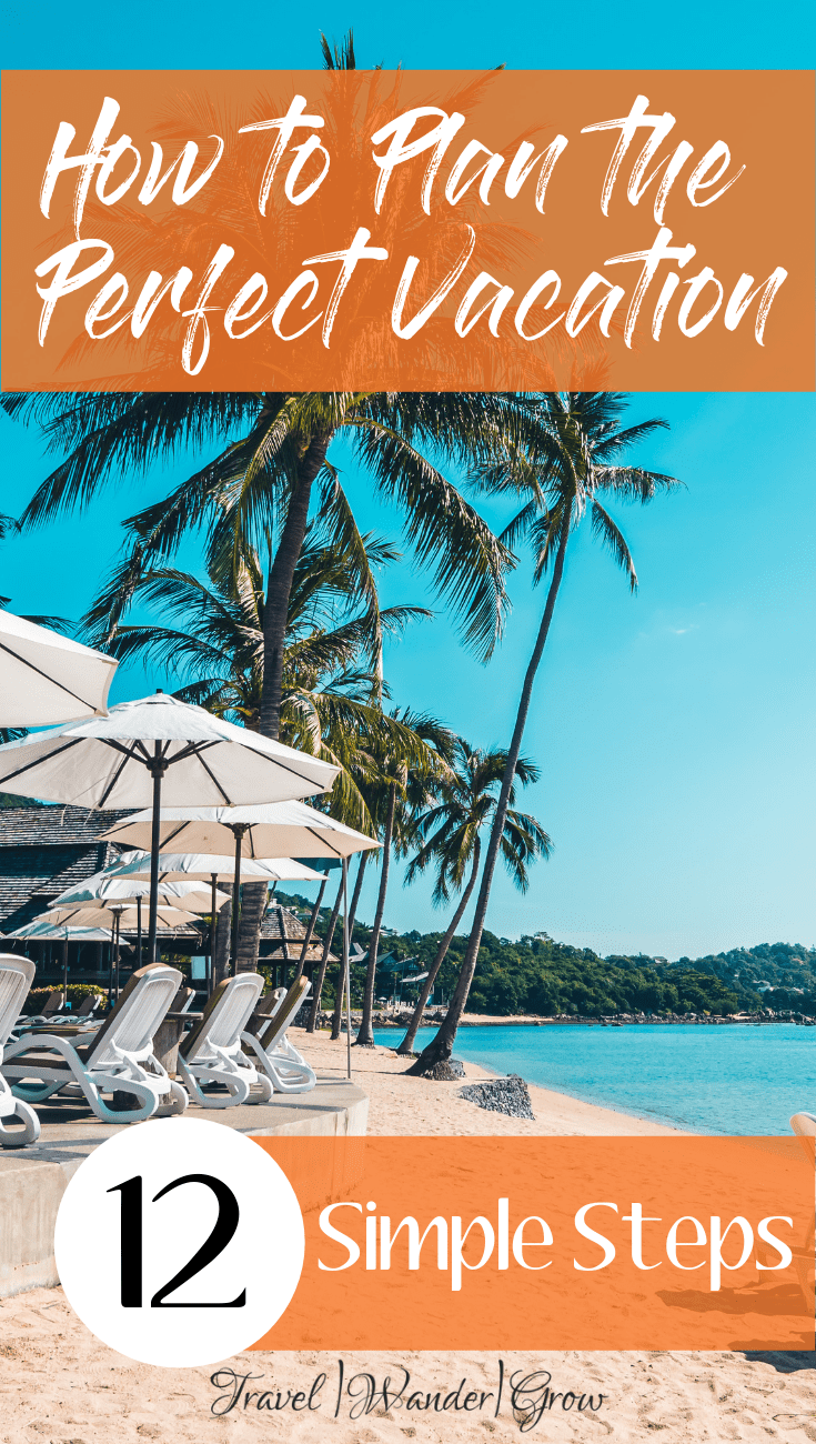 Planning a vacation can be a daunting task if you do it by yourself. To help you with this, I've put together a list of the 12 simple steps you need to follow to plan to best trip ever! This includes budgeting and cost saving tips, as well as where to book lodging, activities and more! #travelplanning #planningavacation