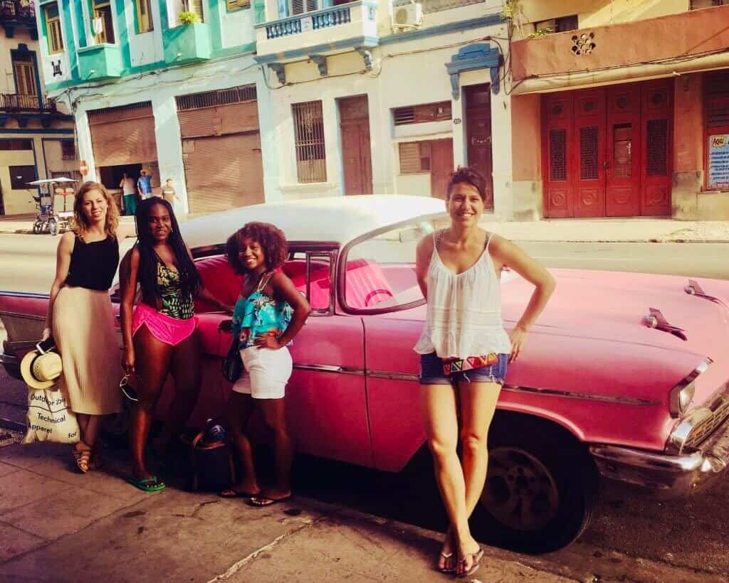 Classic car from havana to varadero