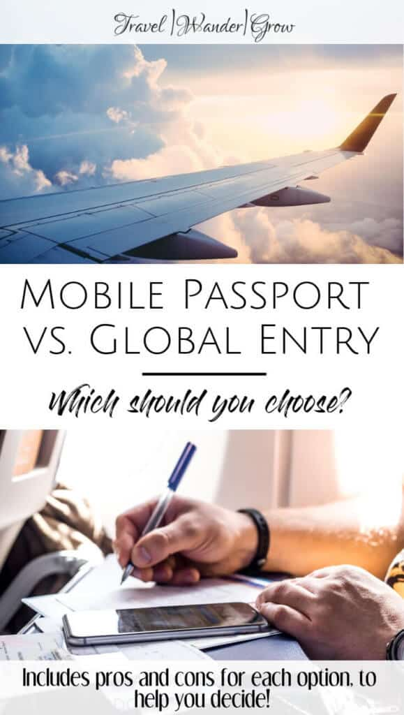 mobile passport vs. global entry