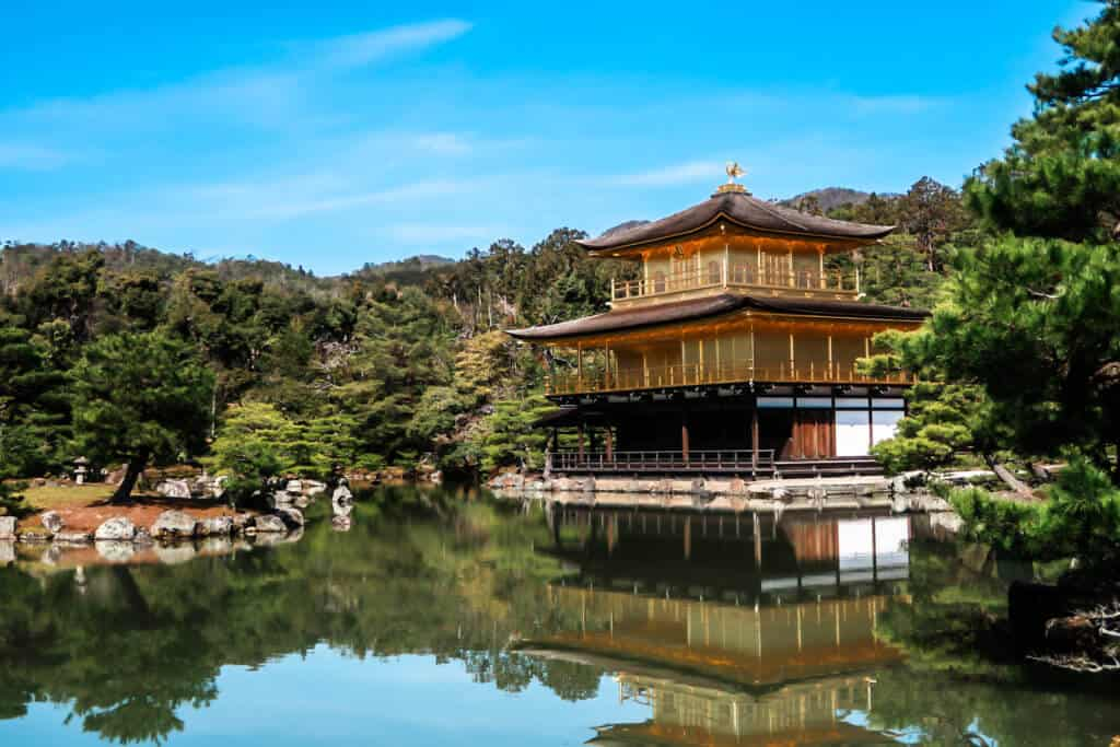 the golden temple in kyoto