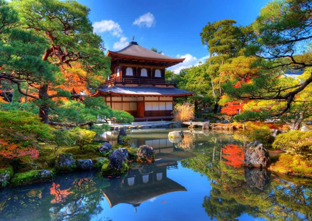 Ginkaku-ji Temple in Kyoto, Japan