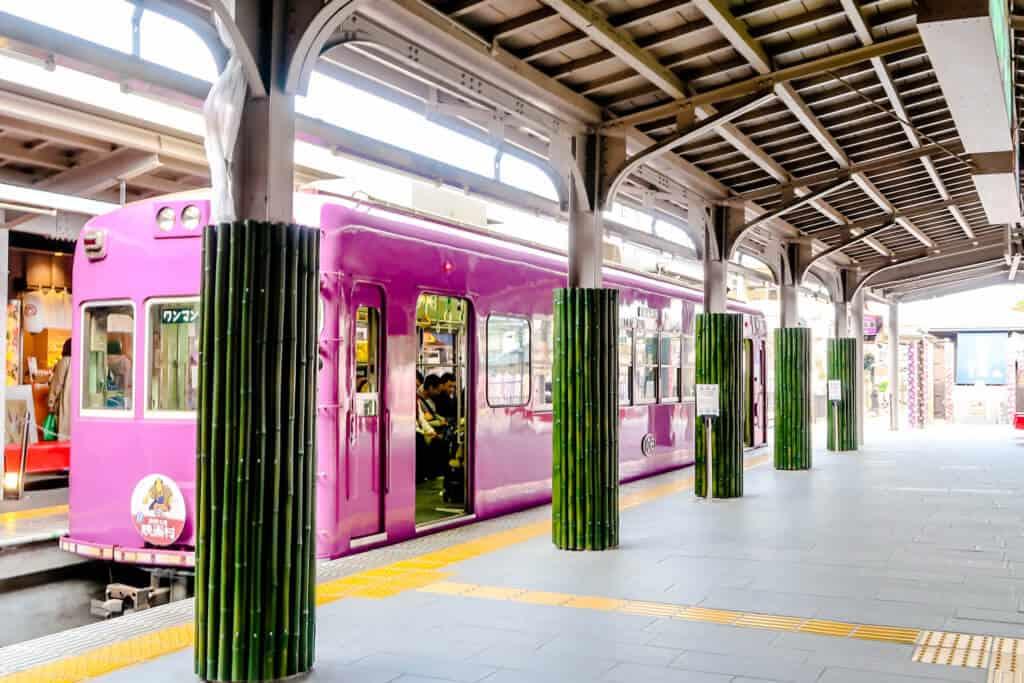 Tram to Arashiyama