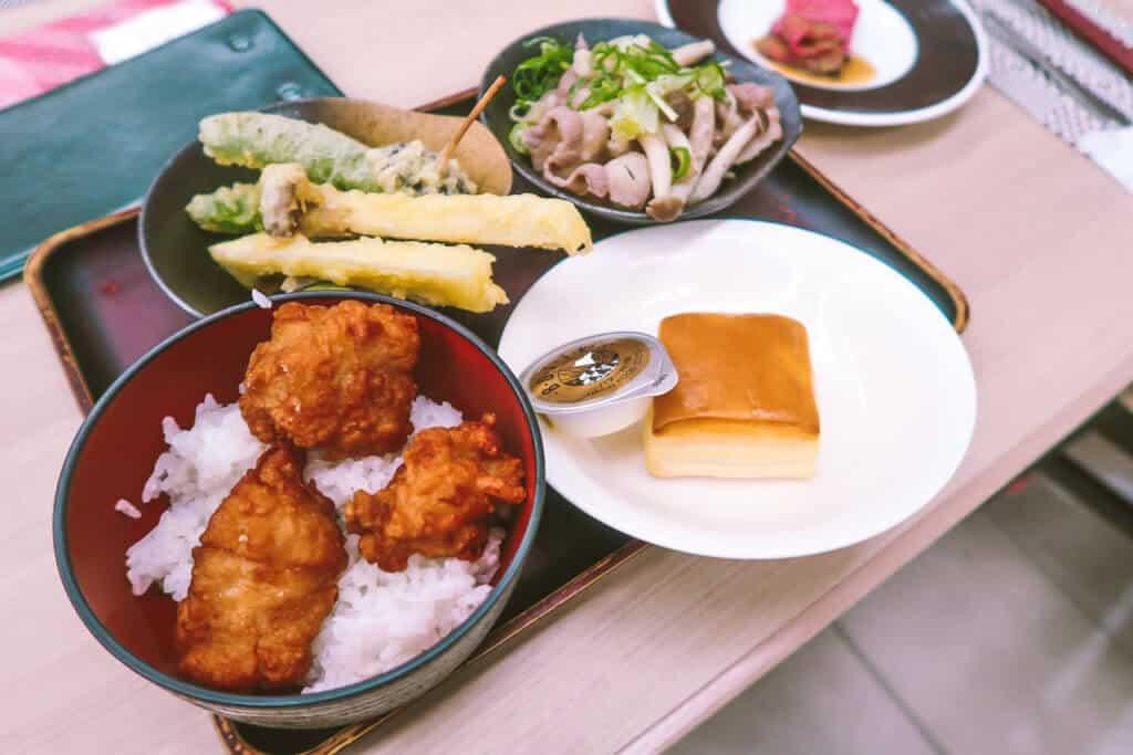 Dinner Tray at Hotel Green Plaza Hakone