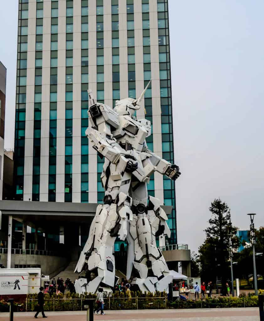 Gundam robot in Odaiba, Tokyo
