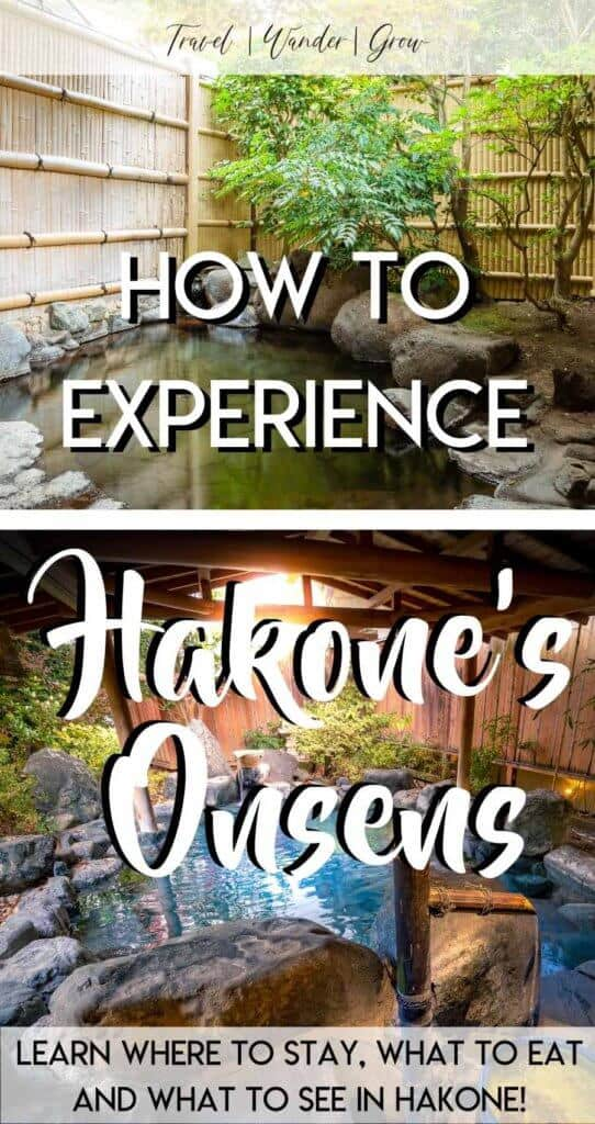 Interested in visiting one of Hakone's many onsens? If so, this post will tell you all you need to know about onsens in Hakone, how to get there from Tokyo, and what to expect during your time there. Learn about the Hakone Green Plaza Hotel and why it provides an awesome onsen experience! #hakoneonsen