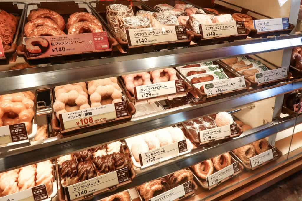 Mr. Donut donuts in Shinjuku, Tokyo