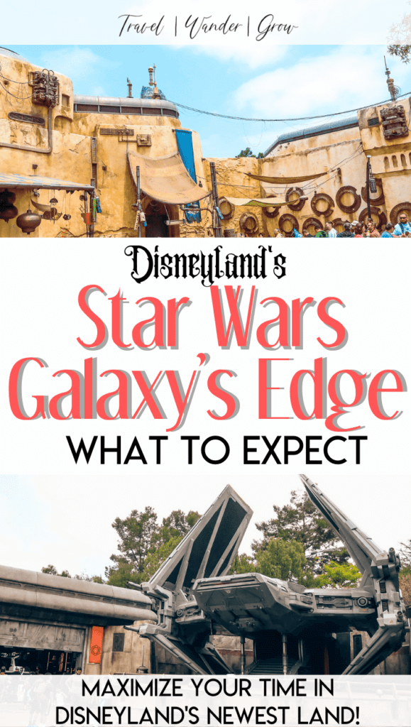 Get the best tips on how to experience Disneyland's Star Wars Galaxy's Edge land. This is the newest and most exciting area of the park, with plenty to offer for everyone! See how Disney has brought the world of Star Wars to life, learn how to make the most of your time here, and get tips on how to get your reservation. Experience blue milk, see storm troopers, and more! #starwarsgalaxysedge