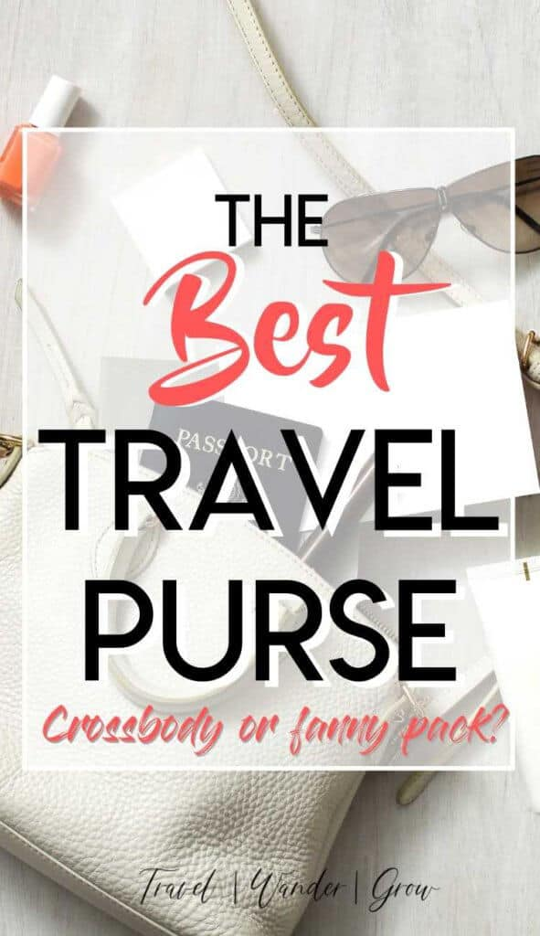 The bag you take while traveling is an important one. This post gives information on the best travel purse out there, plus details several other travel bags so that you can make an informed decision. Decide between a crossbody and a fanny back. #bestpursefortravel