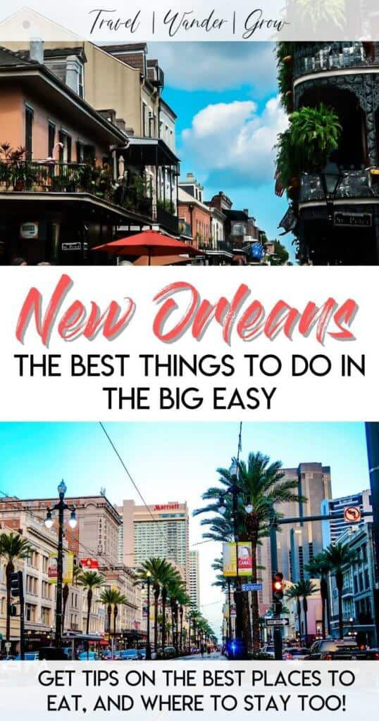 Heading to the big easy soon? This travel guide provides tips on the best things to do in New Orleans, including seeing the French Quarter, see Treme New Orleans, and learn why you need to visit New Orleans! Also, learn how you can get a ghost tour and eat at the best restaurants in the city! #bestthingsinneworleans #neworleanstravel