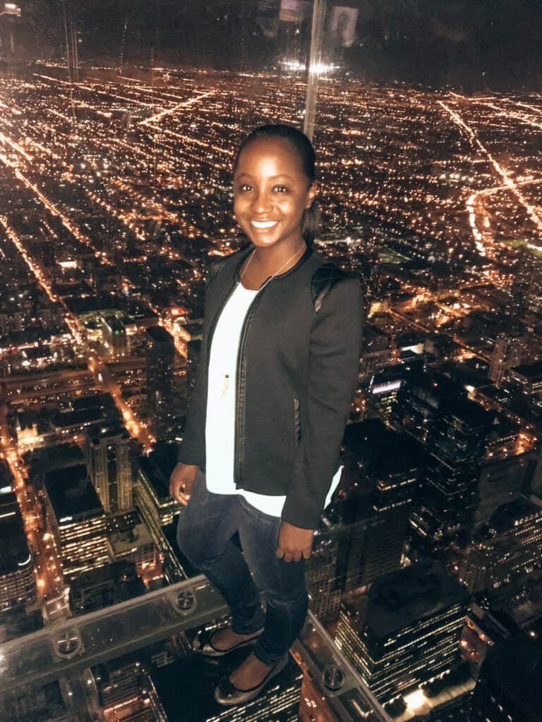 Woman at Willis Tower
