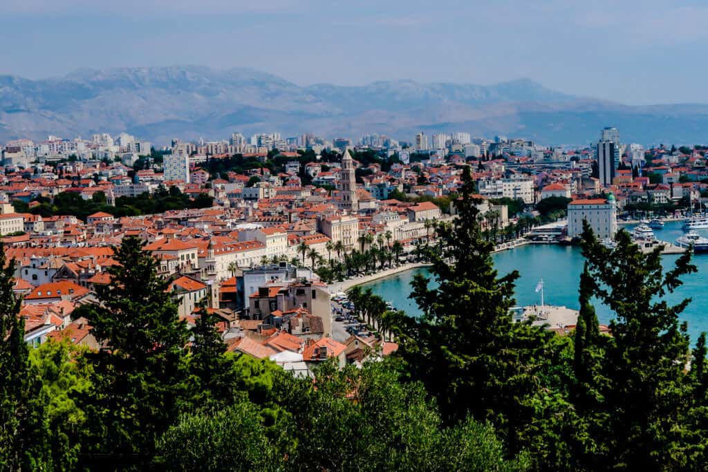 Split, Croatia from Marjan Hill
