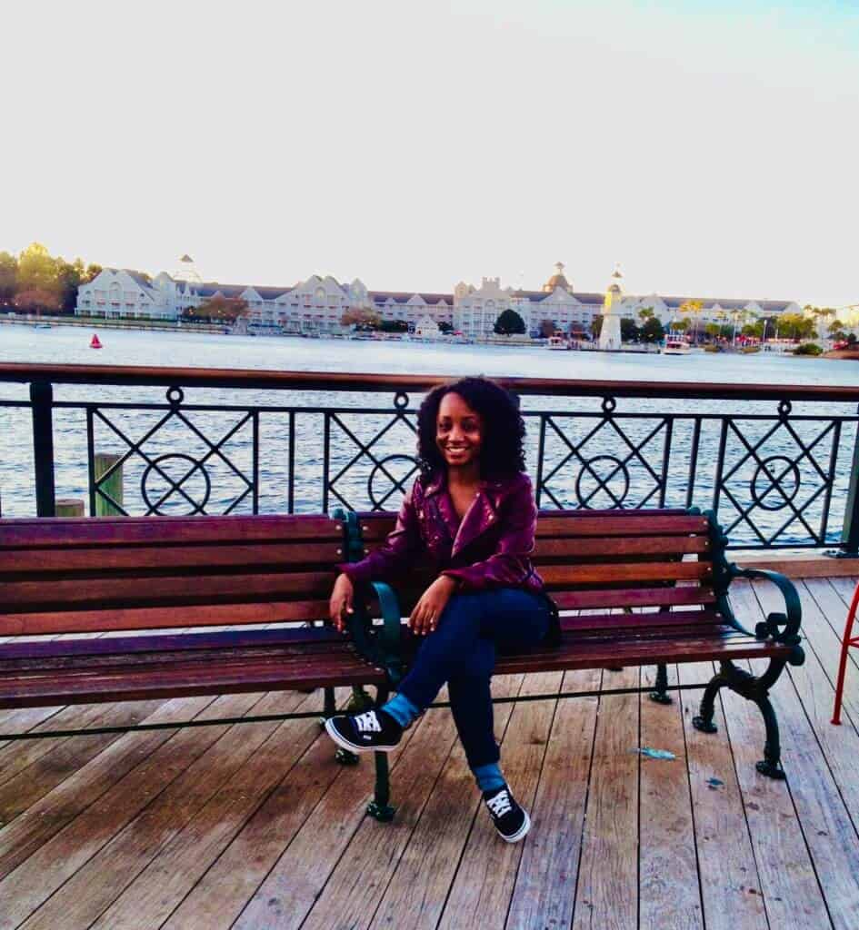 Woman at Disney's Boardwalk Inn