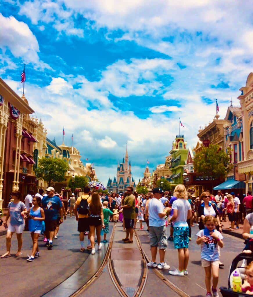 Main street USA in the Magic Kingdom