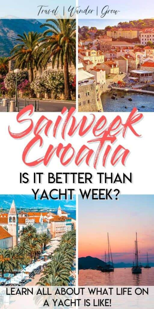 Are you looking for a creative way to explore Croatia? Well Adventure Sailweek Croatia is a great alternative to the Yacht Week. Learn what outfits to pack. Get information on cities such as Split, Dubrovnik, and islands like Hvar. Learn about the best things to do in each of these cities too! #croatiatravel #sailweekcroatia