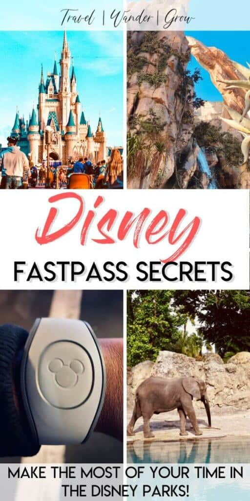 Planning a trip to Disney World or Disneyland soon? This post provides the best FastPass secrets so that you can learn how to skip the lines in the park. Learn how to skip the lines in Hollywood Studios, Magic Kingdom, Animal Kingdom, and Epcot. #fastpasssecrets #disneyfastpass