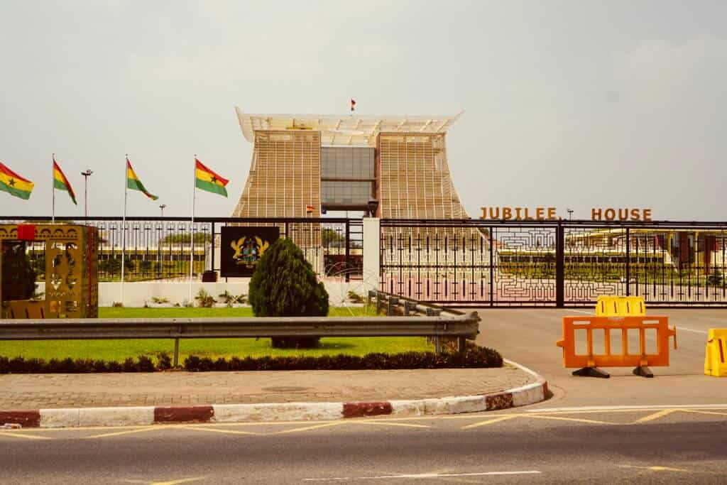 The Jubilee House in Accra