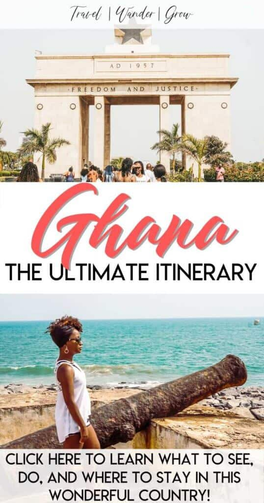 Heading to Ghana in Africa soon? This travel guide will give you a complete itinerary for things to do in Accra and up the coast in Elmina. Learn about the culture of the people of Accra, travel to the beach hotels, and more! Learn why the Year of the Return should inspire you to travel to our motherland as soon as possible. #travelaccra #travelghana