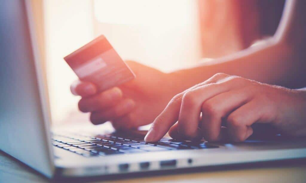 Purchasing item with credit card online