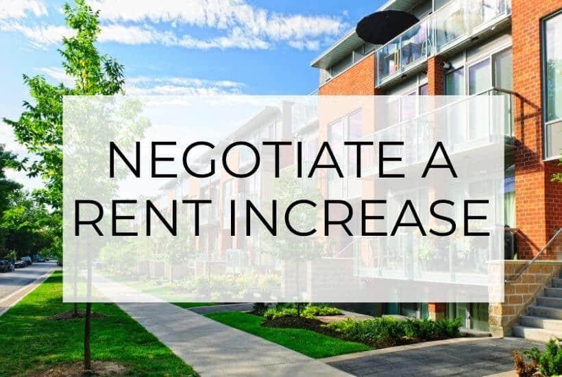negotiate a rent increase