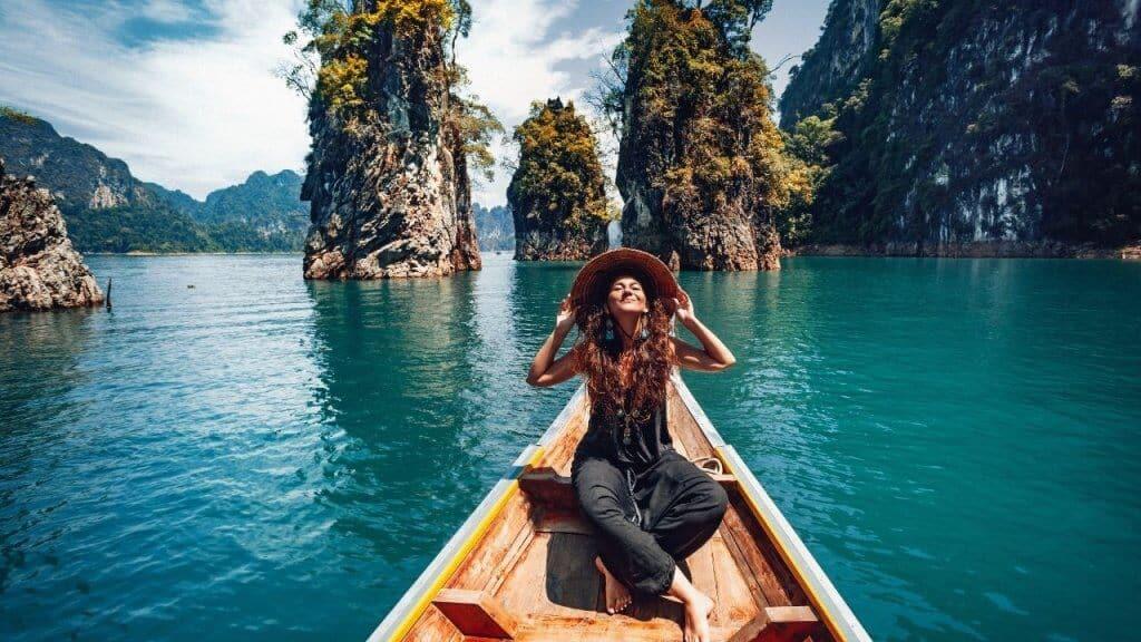 woman on travel tour in Phuket