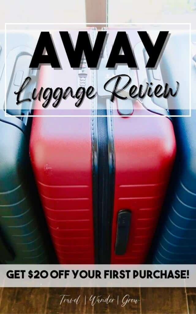 """This review of the AWAY """"Bigger Carry-On"""" will provide all the details you need to know before purchasing this bag. This includes details on bag dimensions, the pros and cons of the suitcase, and how the charging component works. Best yet, if you purchase this bag, you'll get $20 off!"""